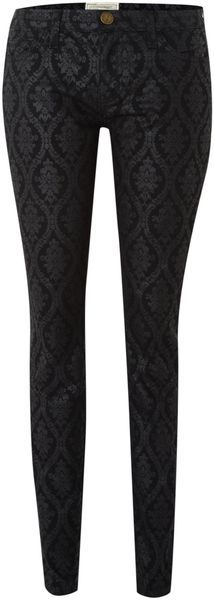 Brocade Skinny Ankle Jean from Current/Elliott