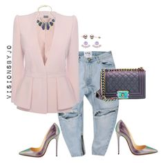 """""""#LadiesWhoBrunchATL"""" by visionsbyjo on Polyvore featuring Alexander McQueen, Chanel, Christian Louboutin, Henri Bendel, women's clothing, women, female, woman, misses and juniors"""