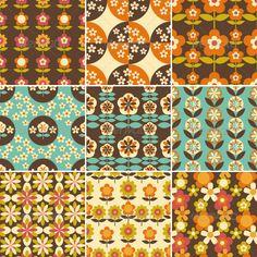 70s patterns - flower power! www.balmchicky.com