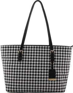 Dogtooth Mk Design Fashion Per Tote Shoulder Handbag Free Gold Key Ring