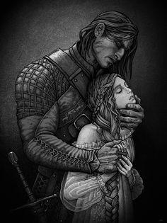 The Hound Sandor Clegane & Sansa Stark - Game of Thrones Romance Art, Fantasy Romance, Fantasy Art, Hound Game Of Thrones, Game Of Thrones Art, The Hound And Sansa, Illustrations, Illustration Art, Character Inspiration
