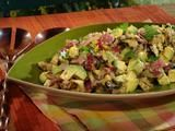 Grilled Eggplant Salad Recipe by Bobby Flay. Just eggplant, onion, avocado and a simple dressing.
