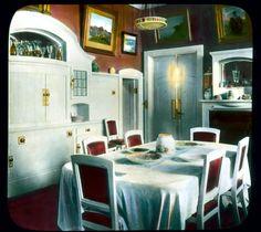 THE DINING ROOM OF NIKOLAY II AND HIS FAMILY ~ The Alexandrovskiy Palace in Tzarskoye Selo, ca 1902