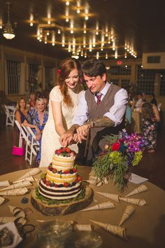 Lenzi and Chris' 52 Guest Reception at The Basin Park Hotel in the Ozark Mountains. Shawn Marie Photography.  See more.......... @intimateweddings.com #reception #weddingcake
