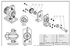 Cad Computer, Isometric Drawing, Section Drawing, Autodesk Inventor, 3d Drawings, Technical Drawings, Drawing Sheet, Drawing Projects, Mechanical Design