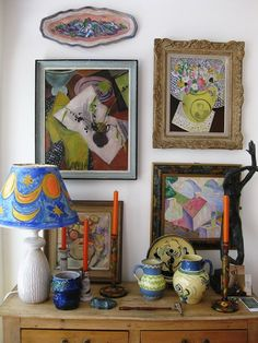 Recreating the lost interiors designed by the Bloomsbury artists Roger Fry, Vanessa Bell and Duncan Grant. Interior Exterior, Home Interior, Interior Design, Eclectic Design, Design Furniture, Furniture Decor, Victoria Art, Design Loft, Design Design