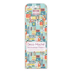First edition tiled seaside deco mache decoupage #decopatch #papers  #fedec102,  View more on the LINK: http://www.zeppy.io/product/gb/2/161643900239/