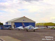Aeropuerto de A Coruña (LCG) en Culleredo, Galicia, Escuela de Pilotos AFN