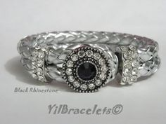 Check out this item in my Etsy shop https://www.etsy.com/listing/205482640/silver-leather-bracelet-with-rhinestones