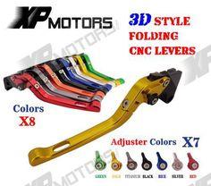 CNC 3D Folding Brake Clutch Lever For Yamaha XTZ660 Tenere 91-98 XTZ750 Super 89-95 XV1000 TR1 91-86 XV750 SE 81-83 XZ550 82-86 #Affiliate