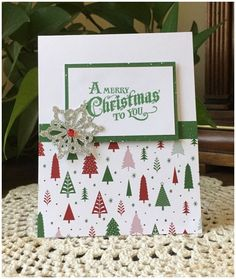 Simply Christmas by MelodyGal - Cards and Paper Crafts at Splitcoaststampers - Christmas cards handmade Christmas Cards 2018, Stamped Christmas Cards, Simple Christmas Cards, Christmas Card Crafts, Homemade Christmas Cards, Xmas Cards, Homemade Cards, Holiday Cards, Christmas Christmas