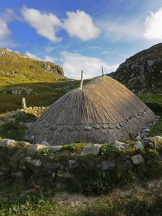 Bosta Iron Age House. Great Bernera Iron Age Village, Isle of Lewis, Western Isles, Scotland.