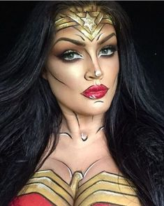 Are you looking for ideas for your Halloween make-up? Browse around this site for creepy Halloween makeup looks. Creepy Halloween Makeup, Halloween Looks, Halloween Costumes, Halloween Halloween, Vintage Halloween, Scary Makeup, Halloween Movies, Halloween Decorations, Maquillage Wonder Woman