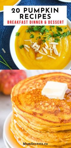 If you're a pumpkin lover just like me you're going to love these easy to make pumpkin recipes-everything from breakfast to dinner and dessert. #pumpkinrecipes Pumpkin Pasta, Roast Pumpkin, Vegan Pumpkin, Healthy Pumpkin, Baked Pumpkin, Quick Easy Healthy Meals, Best Healthy Dinner Recipes, Clean Eating Recipes, Whole Food Recipes