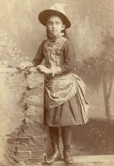 Girl Long Hair Victorian Dress Bustle Hat Antique Cabinet Photo Jersey City NJ