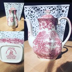 ❤️This is an England Trademark tea pot from the 50's featuring a beautiful woodland scene! Wow! What a find by PaintingsByJeanie on Etsy ❤️ #etsy #etsyshop #etsyseller #etsysellersofinstagram #etsylove #etsyvintage #etsyantiques #vintage #antique #germany #tea #teapot #teacup #china #kitchen #home