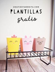 Cajitas de animalitos - Plantillas gratis #plantillasgratis #gratis