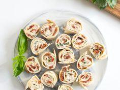 Bouchées tomate, basilic et fromage frais