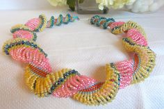 Pink and Yellow Double Dutch Spiral