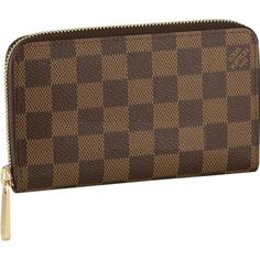 Louis Vuitton Damier Ebene Canvas Zippy Compact Wallet Brown Women Wallets And Coin Purses sale