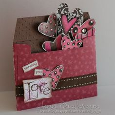 Valentine card  - but you could do an envelope card for every seasonal holiday: Christmas ornaments, bunnies, turkey,etc.