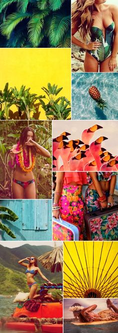 New Fashion Design Layout Mood Boards Color Palettes Ideas Style Tropical, Tropical Vibes, Trendy Fashion, Fashion Art, Fashion Design, Fashion Trends, Hijab Fashion, New York Fashion Week 2018, Summer Trends