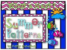 This set of pattern cards is all ready for Summer patterning. It starts with cards that have the AB pattern of four pictures and they need to find the fifth picture to match. There are also cards with ABC, AAB, ABB, and AABB patterns. Print, laminate and cut apart and you're ready to go.