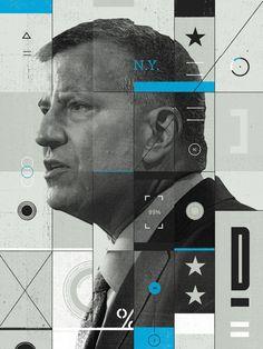 The AtlanticPortrait of New York City Mayor Bill de Blasio.Creative Director — Darhil Crooks  Next