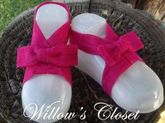 Dark Pink Barefoot Sandals by WillowFayesCloset on Etsy, $7.00