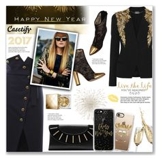"""Happy New Year 2017 Polyfriends! - Casetify"" by viebunny ❤ liked on Polyvore featuring Balmain, Francesco Scognamiglio, Alexander McQueen, Casetify, Diane Von Furstenberg, WALL, Burberry, modern, phonecase and NewYearsEve"