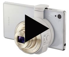 Watch the video on the exciting NEW Sony QX100 Smartphone Attachable Lens-style Camera.  Lens and camera all in one  #new_cameras #digital_cameras #sony_cameras