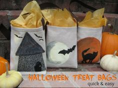 super cute #Halloween Treat Tote Bags by The Sewing Loft #MSHalloween #kids