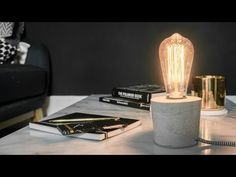DIY - Lampe aus Beton - YouTube