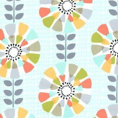 Michael Miller House Designer - Petal Pinwheels - Petal Pinwheels in Seafoam