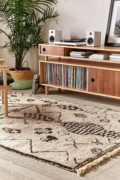 Pin for Later: Moroccan rugs for bedroom. One-Of-A-Kind Moroccan Shag Rug - Urban Outfitters. Pin for Later: Moroccan rugs for bedroom. One-Of-A-Kind Moroccan Shag Rug - Urban Outfitters. Click The Link For See Moroccan Home Decor, Moroccan Rugs, Muebles Living, Vinyl Storage, Built In Bookcase, Easy Woodworking Projects, My New Room, Apartment Design, Home And Living