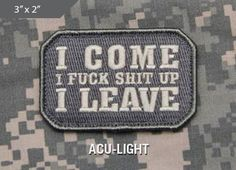 Express your individuality with our collection of Morale Patches, Tactical Morale Patches, Military Morale Patches, and Humorous Morale Patches!