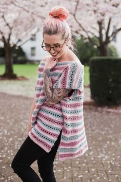 THNLife - Serendipity Poncho Crochet Pattern | Jessica Carey
