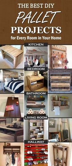 The Best DIY Pallet Projects for Every Room in Your Home DIY Pallet Furniture Inspirations Pallet Home Decor, Wooden Pallet Projects, Pallet Crafts, Pallet Furniture, Pallet Ideas, Reclaimed Furniture, Furniture Ideas, Wood Ideas, Furniture Layout