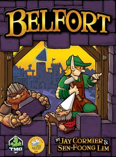 In Tasty Minstrel's universe, Elves, Dwarves, and Gnomes work in the Village and Guilds of Belfort to collect resources and build up the city. This is a Worker Placement game with Area Control (majority) scoring in each district as well as for each type of fantasy worker.