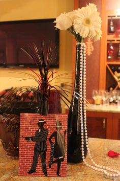 roaring 20s/great gatsby themed party decorations... @Kati Kalmar Kalmar Lancaster, for the engagement party? lol (No, I'm not trying to plan it!)