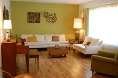 Avocado Green Living Room