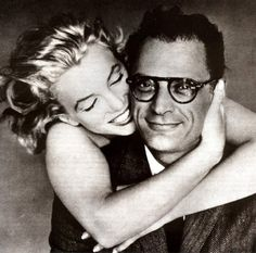 Marilyn Monroe and Arthur Miller.  I love this picture, this style, her joy...
