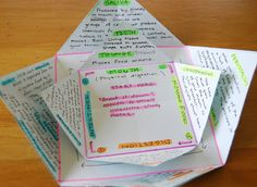 Ol Mother Hubbard: Study Star- Revision Idea Simple paper folding to create a star to use like a flip book.