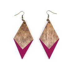 Magenta Diamond Earrings on @BRIKA