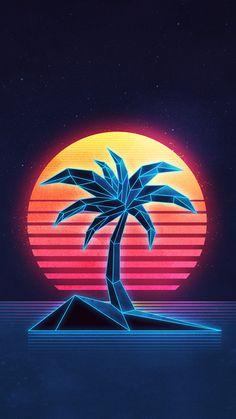 "Through the Overdrive series ""Nitro"", Canadian graphic designer James White pays tribute to the retro-futuristic era with vibrant colors, Retro Kunst, Retro Art, Design Retro, Graphic Design, 1980s Design, Neon Design, Logo Design, 80s Neon, James White"