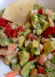Avocado-Shrimp Salsa - my new favorite dip. Looking for a new way to spice up your chip and dip recipe? This isn't just a dip. Just add a salty tortilla chip and a nice cold Mexican beer. Avocado Recipes, Veggie Recipes, Healthy Recipes, Clean Eating, Healthy Eating, Healthy Food, Yummy Food, Shrimp Avocado, Beer Recipes