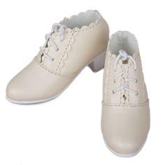 [wamami] 33# Beige 1/4 MSD AOD DOD BJD Doll Dollfie Medium-heeled Shoes