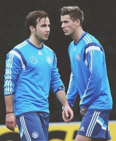 Mario Goetze and Erik Durm #GermanyNT