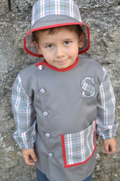 bata escolar e chapeu personalizados