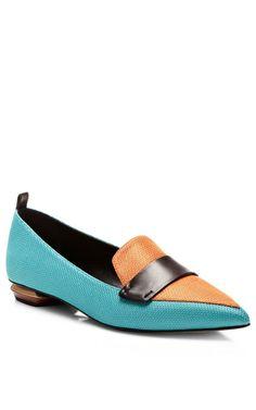 Mesh Leather Loafers by Nicholas Kirkwood - Moda Operandi